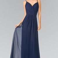 Long navy formal dress  gls 2374