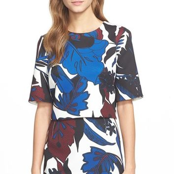 Women's Ted Baker London 'Dawna' Botanical Print Crop Top,