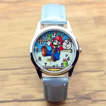 Super Mario party nes switch 2017 new boys and girls Classical game  lovely children dress watch women and men cartoon watch Xmas gift clock AT_80_8