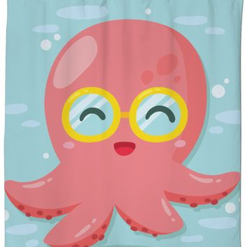 Rosc Octopus Glasses Shower Curtain
