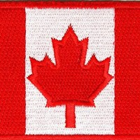 "Embroidered Iron On Patch - Canada Canadian Flag 3"" x 2"" Patch"