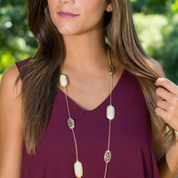 Mew Should Be Here Necklace, Ivory