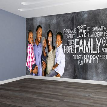 Custom Designed Wallpaper Your Family Photo with Words