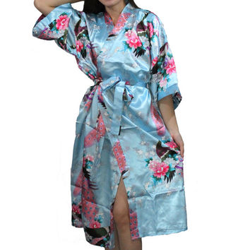 Personalized Robes Cotton Kimono Robe Maternity robe Bridesmaid  Monogrammed wedding satin robes for bridal party bridesmaids kimono robes