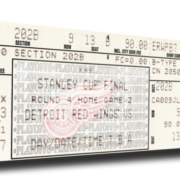 1997 NHL Stanley Cup Canvas Mega Ticket - Detroit Red Wings