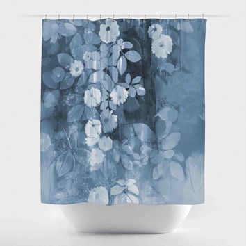 Floral Waterfall-Blue