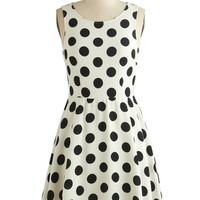 ModCloth Short Length Sleeveless A-line Dot You Forget About Me Dress