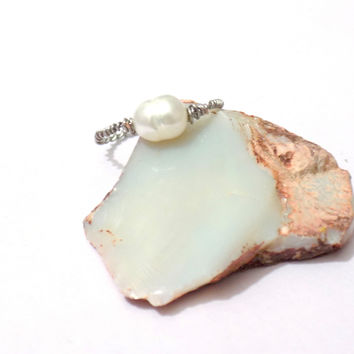 Wire wrap pearl ring