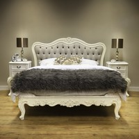 Sophia Button Upholstered French Bed | French Bedroom Furniture | French Beds | French Furniture