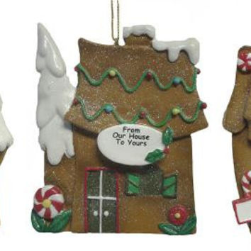 12 Christmas Ornaments - Gingerbread Houses