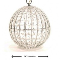 "Wake Up Frankie - Super Big ""Crystal"" Orb Pendant Light"