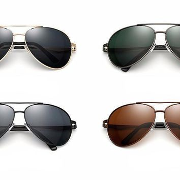 Men's Oversized Polarized Aviation Sunglasses