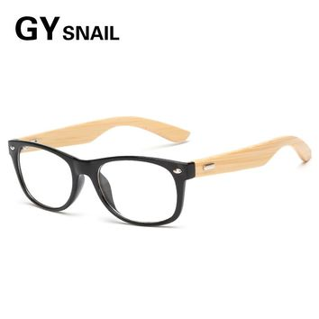 GY fashion natural Wooden Sunglasses men Transparent lens Wood sun glasses women Bamboo eyewear mens sunglasses reading oculos