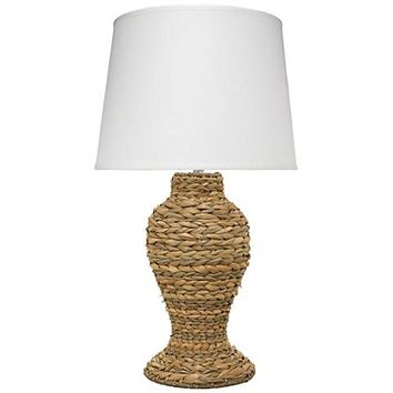 Jamie Young Charter Natural Seagrass Table Lamp - #1N911 | Lamps Plus