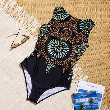 Summer Swimsuit Hot New Arrival Beach Swimwear Vintage Print Sexy Bikini [1921991540790]