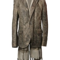 Isaac Sellam Experience scarf detail distressed blazer