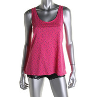 Jane & Bleecker Womens Floral Scoop Neck Sleep Tank