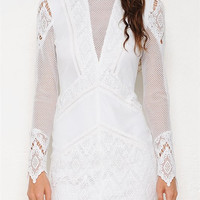 Clarity White Lace Dress