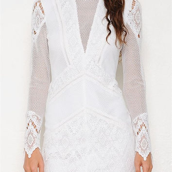 Kimmy Ivory Lace Dress