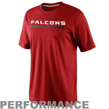 Nike Atlanta Falcons Dri-FIT Legend Elite Font Sideline Performance T-Shirt - Red
