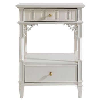 Palmetto Telephone Table, White, Nightstands