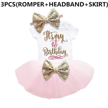 Girls It's My 1st Birthday Romper Tutu Set