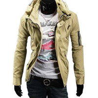 The Aston Slim Fit Jacket Khaki