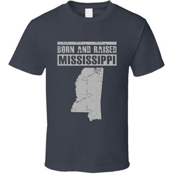 Unisex Born & Raised Vintage Mississippi T-Shirt