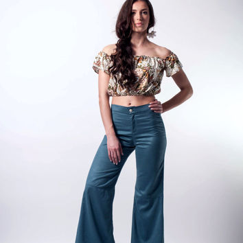 Bell bottoms, flare pants, bell bottoms suede, high waisted bell bottoms,70s clothing, wide pants bell bottoms, petrol pants