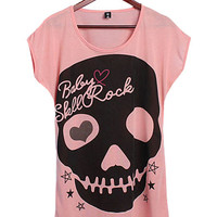 'The Mallika' Skull Love Printed Tee
