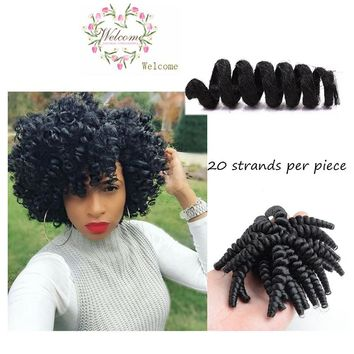 20PCS Strong Elastic Curly Deep Twist Best Synthetic Crochet Micro Braids Hair Styles