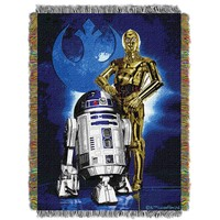 "Star Wars Driod Blues Licensed 48""x 60"" Woven Tapestry Throw  by The Northwest Company"