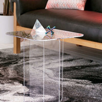 Halvar Acrylic Side Table | Urban Outfitters