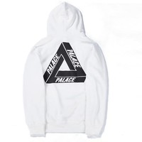 Palace Women Men Fashion Casual Plus Velvet Hooded Top Sweater Pullover