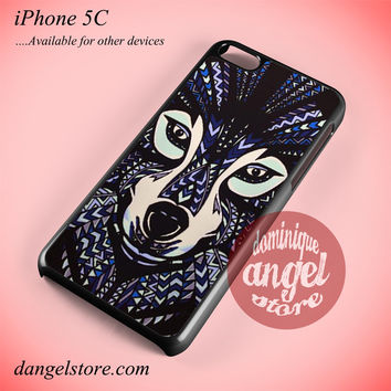Wolf Aztec Phone case for iPhone 5C and another iPhone devices