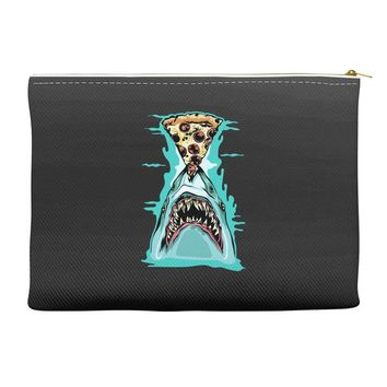 pizza shark graphic Accessory Pouches