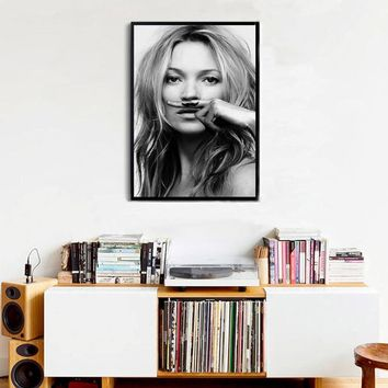 Modern Fashion Canvas Painting Kate Moss life is a joke For Lijst IN Posters Prints Nordic Salon Decoration Home Decor no frame