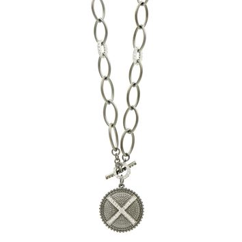 Industrial Finish Toggle Pendant Necklace