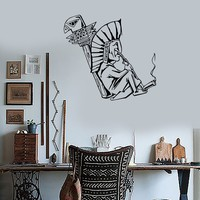 Wall Decal Shaman Smokes Marijuana Weed Hippie Art Vinyl Stickers Unique Gift (ig2020)