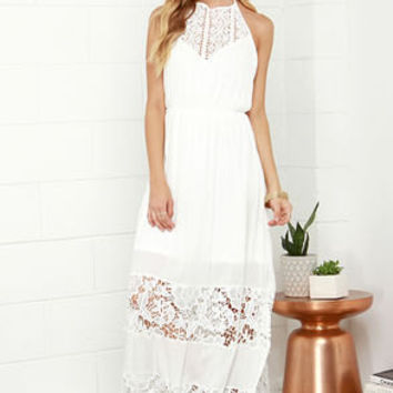Dress evening dress evening gown party dress maxi white lace dress
