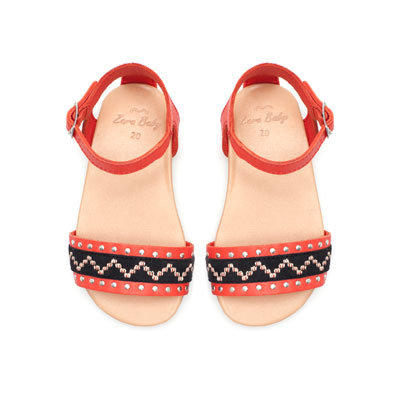 Boho leather sandal Shoes Baby girl from ZARA