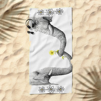 """Up Close You Are More Wrinkly Than I Remembered"" Beach Towel by christinecholowsky"
