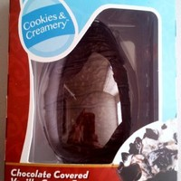 Easter Chocolate Egg Cold Stone Creamery Chocolate Covered Cookies and Cream Creamery Cream Egg, 6 Ounces, with Chocolate Cookies, Chips, and Fudge