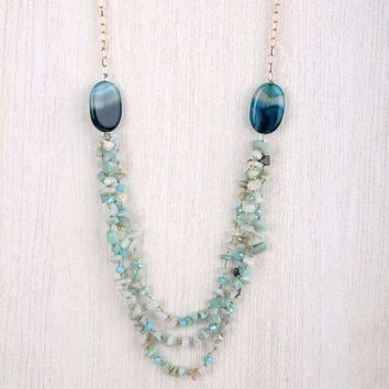 Marissa Chipped Stone Long Necklace