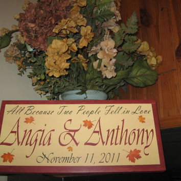 personalized name sign couples wedding bridal shower gift