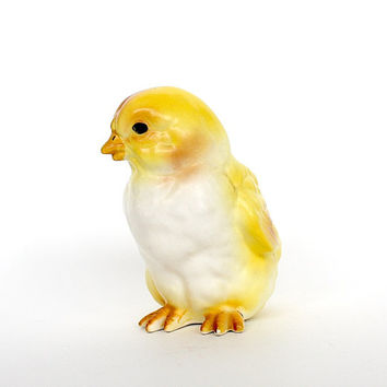 Lefton Chick Vintage Easter Decoration Ceramic Baby Chicken Yellow Bird Figurine Spring