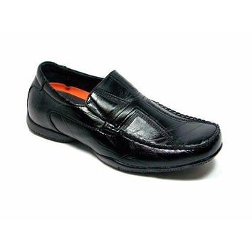 Delli Aldo Men's 30069 Driver Cross Design Loafer Shoes