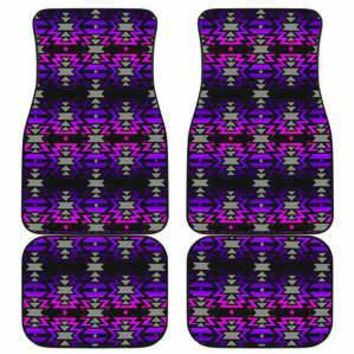 Black Fire Pink and Purple Set of 4 Car Floor Mats