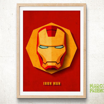 Iron Man, Avengers - Art Print, Paper Art, Home decor, Watercolor Print, Comic Book Art, Superhero Poster