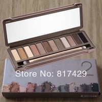 2014 Newest nake Makeup Palette 2 12 Colors nk2 Glitter Matte Eyeshadow palettes with Brush Cosmetics Make up set  Free Shipping